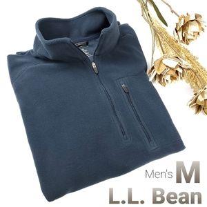 Men's L.L. Bean Fleece Blue Fleece Cardigan Med